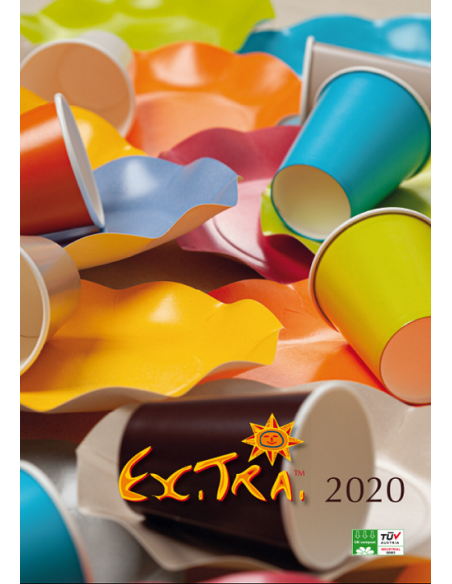 Piatti compostabili colorati