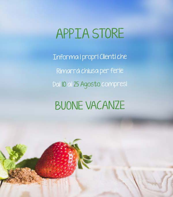 Appia Store - Popup - Vacanze Estive 201